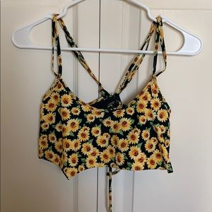 Sunflower flowy bikini top